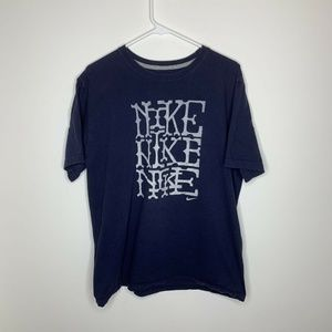 Nike Mens XL Navy Blue Spellout
